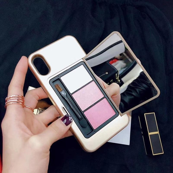 Mirror Case Eye Shadow Makeup Phone Case