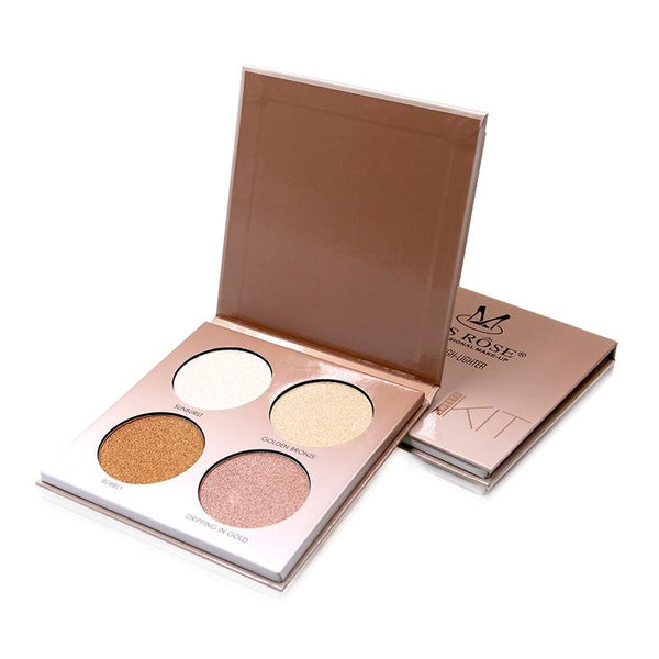 4 Colors Makeup Glow Kit Palette Highlighter