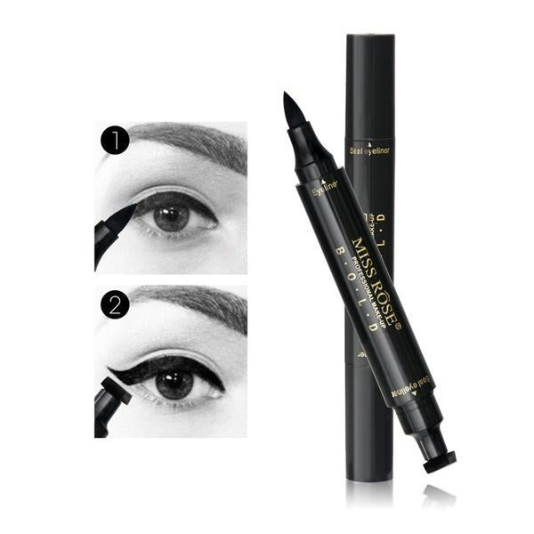 Black Liquid Stamp Eyeliner - Waterproof