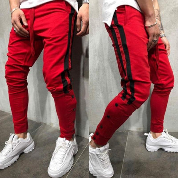 Mens Trousers - Red