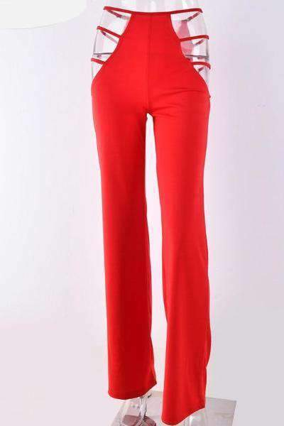 Just Peach Pants - Red
