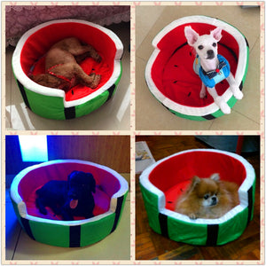 Cute Kennel House Warm Watermelon Modeling Dog Bed
