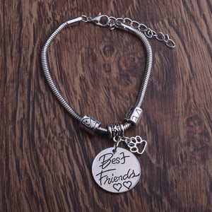 Dog Pet Paws Prints Bracelets Best Friends Heart