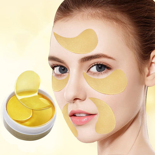 120PCS 24K Gold Eye Mask Patch Gel | Eye Patches Anti Wrinkle Aging Puffiness Dark Circle
