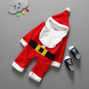 my first christmas girl boy santa clothes