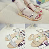 Fashion Footwear Sandals Women Sequins Flat Heel