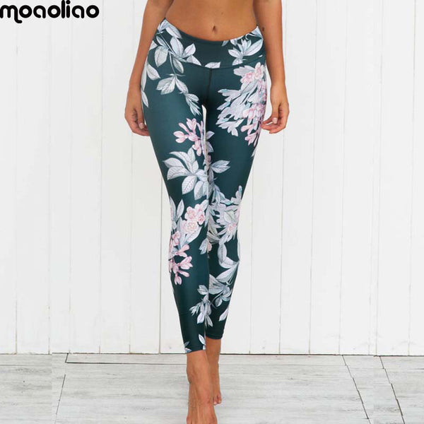 Flower Graphic Sport Yoga Legging Women's Fitness Training Exercise Joga Pants Workout Gym Jogging Jersey Ladies Yoga Clothing