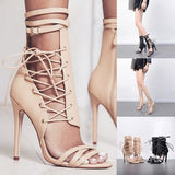 High Quality High Heel Sandals Women Luxury