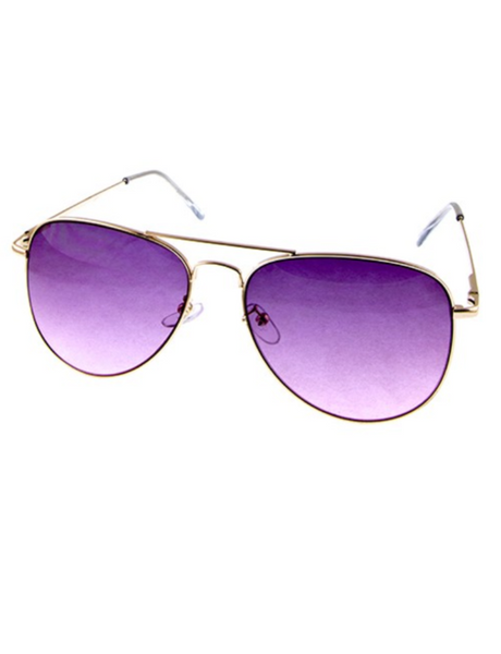 Purple Moon Full Metal Frame Aviators