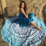 Ombre Boho Beach Circle Towel