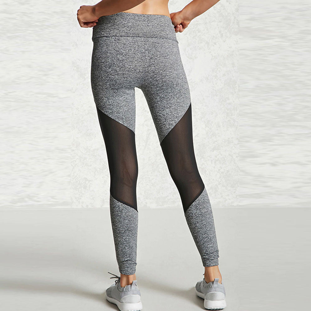 High Waist Mesh Cut-Out Leggings