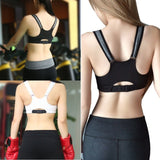 Seamless Zipper Cotton Sports Bra