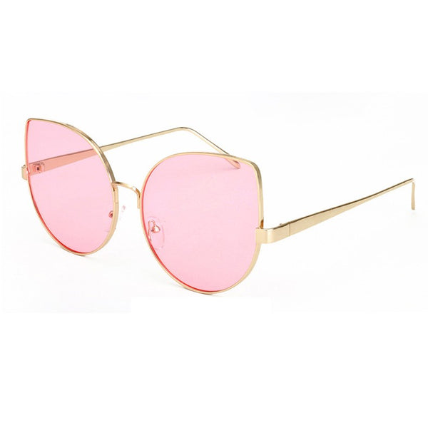 Cat Eye Sunglasses Women Eyewear Fashion Oversize Retro Vintage Yellow Lens Glasses High Quality Oculos UV400 xx929