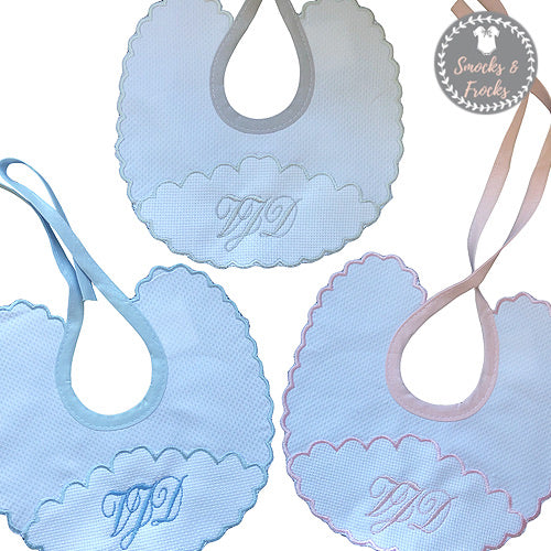 Scalloped bibs free initails
