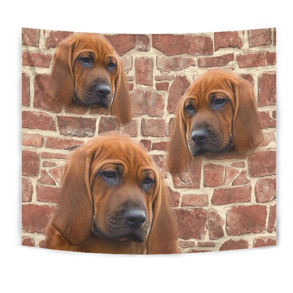 Redbone Coonhound Print Tapestry-Free Shipping