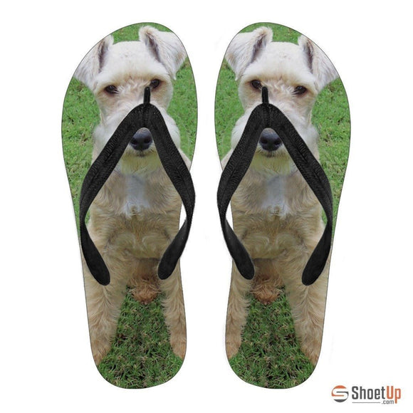Lakeland Terrier Flip Flops For Women-Free Shipping
