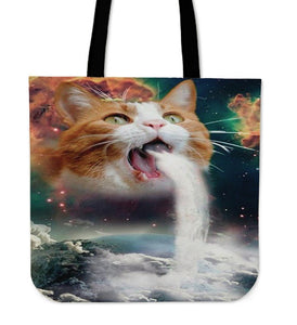Galaxy Cat 3D Printed-Tote Bag-Free Shipping