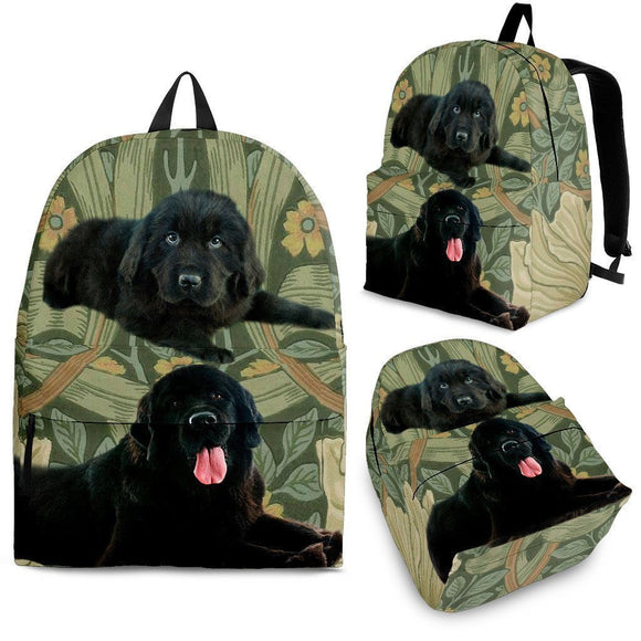 Newfoundland Dog Print Backpack-Express Shipping