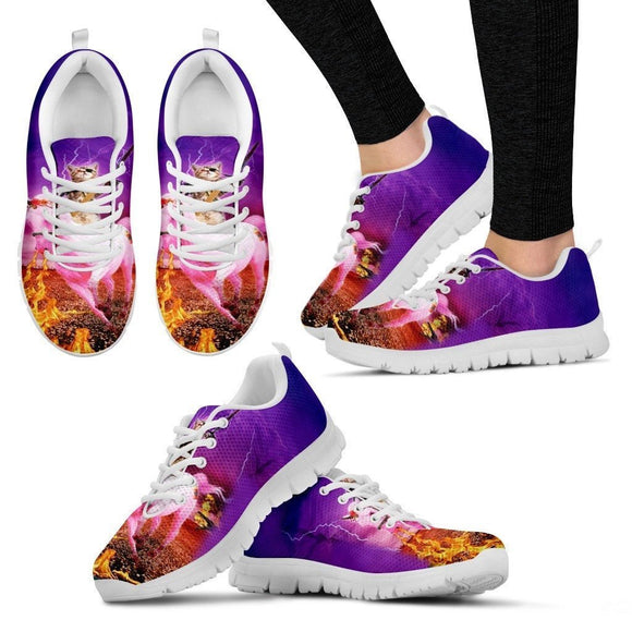 'Hero Cat' Running Shoes For Women-3D Print-Free Shipping