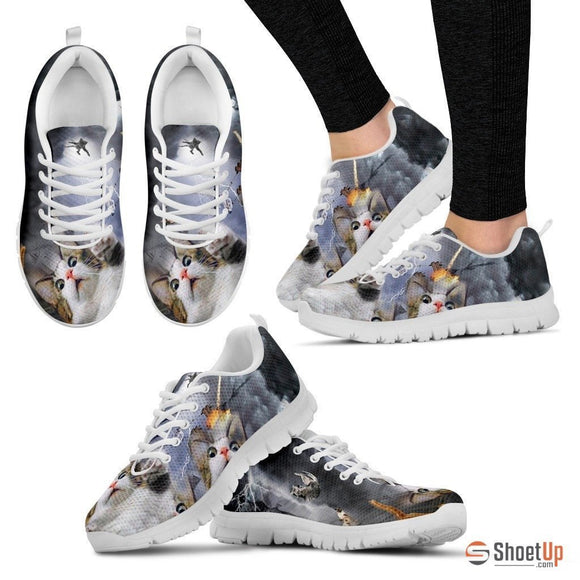 Cat In Storm-Men And Women's Running Shoes-Free Shipping