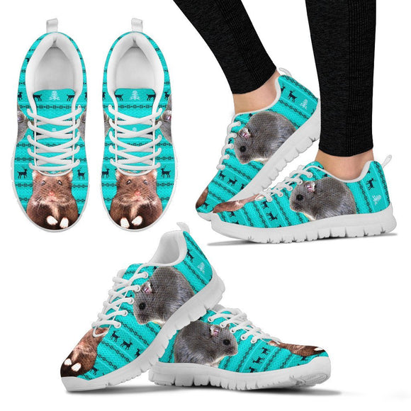 Djungarian Hamster(Siberian Hamster/Russian Winter White Dwarf Hamster) Print Christmas Running Shoes For Women- Free Shipping