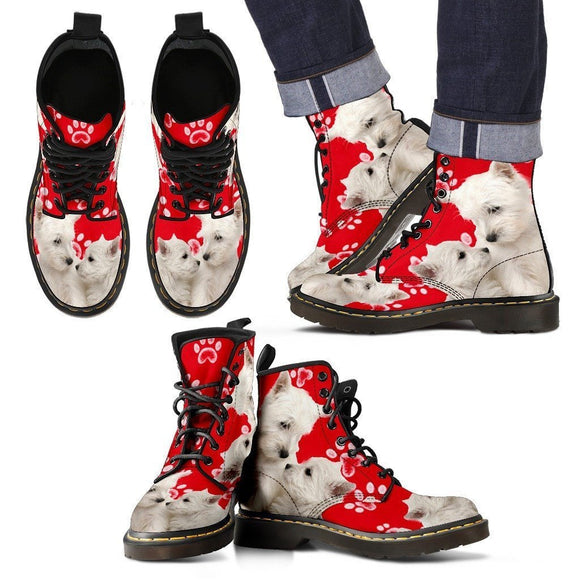 West Highland White Terrier Print Boots For Men-Limited Edition-Express Shipping