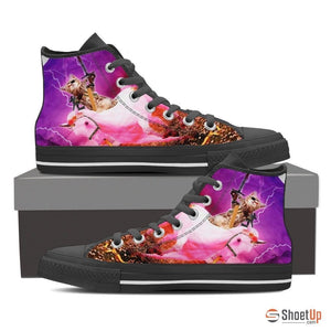 'Hero Cat' High Top Canvas Shoes-Free Shipping