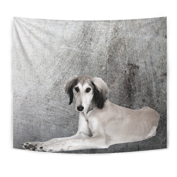 Cute Saluki Dog Print Tapestry-Free Shipping