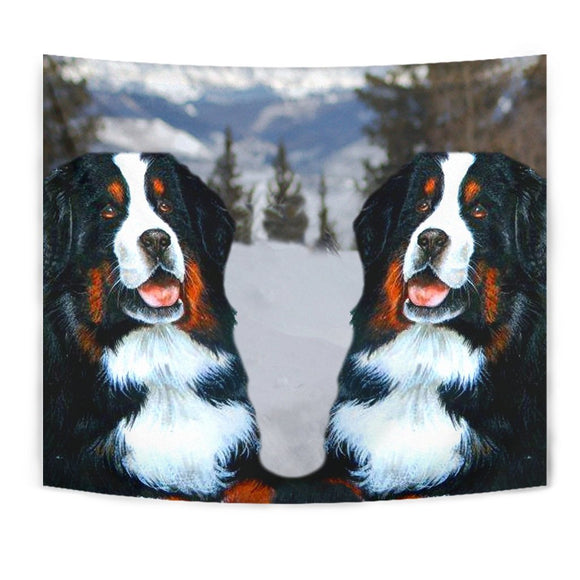 Bernese Mountain Dog Print Tapestry-Free Shipping