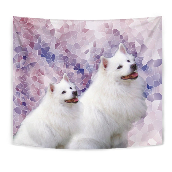Cute American Eskimo Dog Print Tapestry-Free Shipping