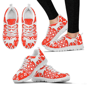Quarab Horse Christmas Running Shoes For Women- Free Shipping