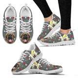 Leonberger Dog Print Christmas Running Shoes For Women-Free Shipping