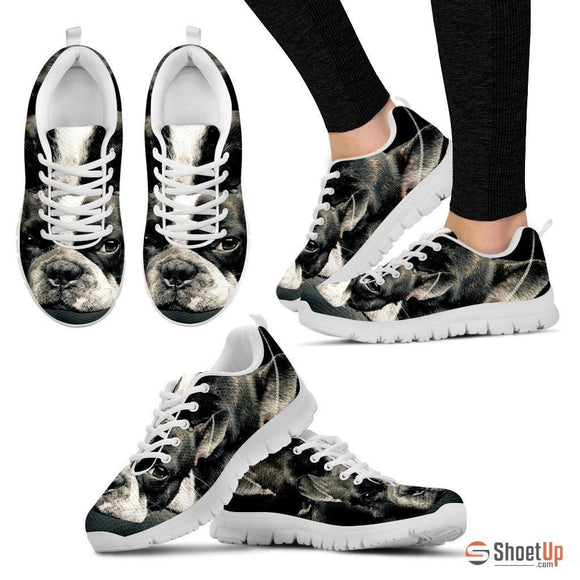 Boston Terrier (Dog) Print Running Shoe Men - Free Shipping