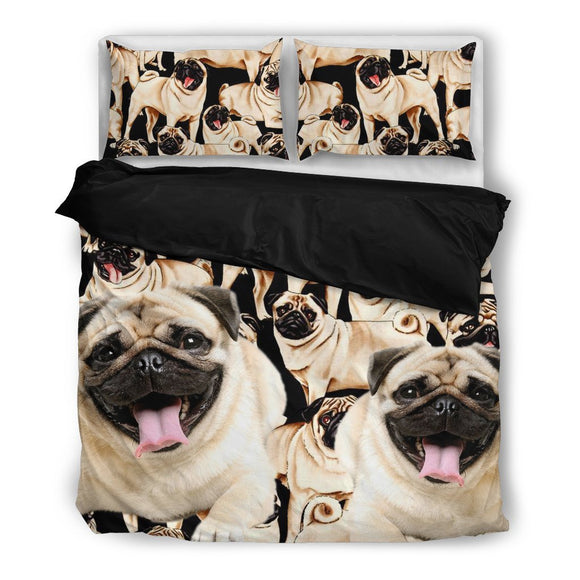 Cute Pug Bedding Set- Free Shipping