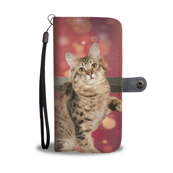Amazing American Bobtail Cat Print Wallet Case-Free Shipping
