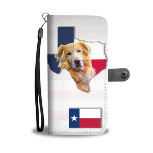 Golden Retriever Dog Tx Themed Print Wallet Case-Free Shipping-Tx State