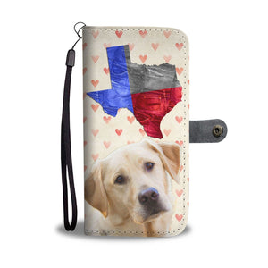 Lovely Labrador Retriever Print Wallet Case- Free Shipping-TX State