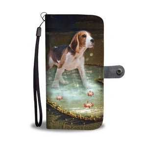 Beagle heart Print Wallet Case-Free Shipping-TX State
