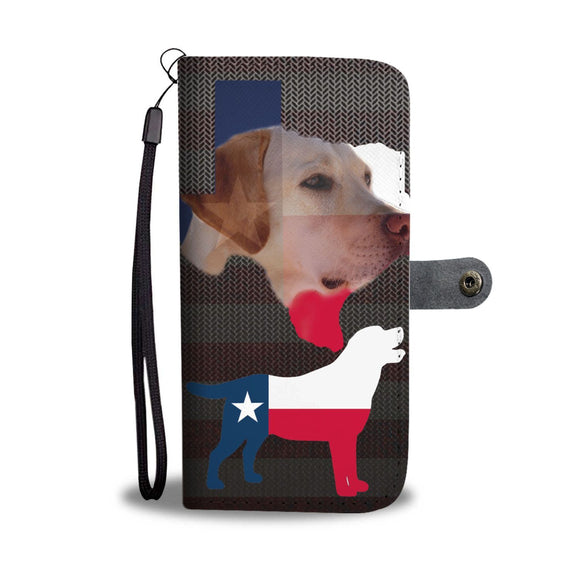 Lovely Labrador Print Wallet Case-Free Shipping-TX State