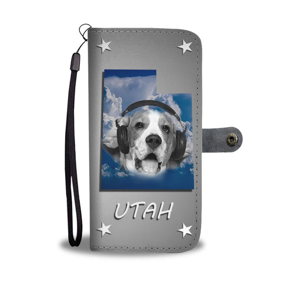 Beagle Dog Print Wallet Case- Free Shipping-UT State