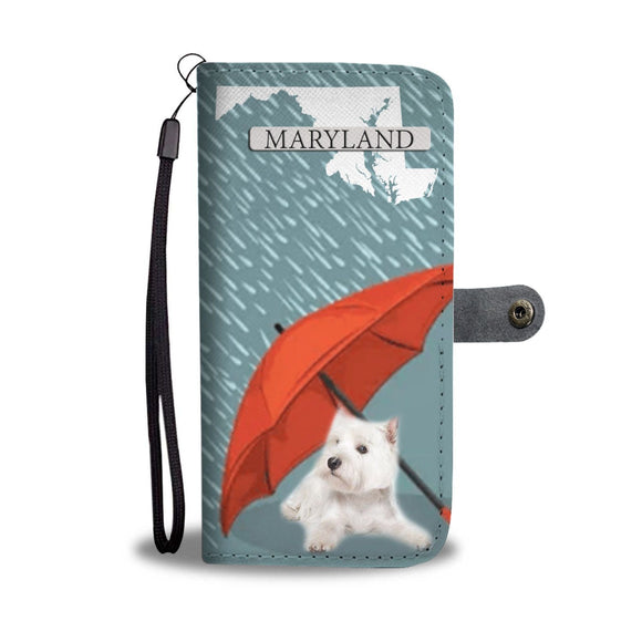 West Highland White Terrier (Westie) Print Wallet Case-Free Shipping-MD State