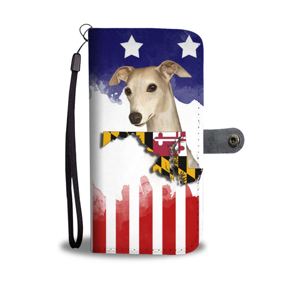 Whippet Dog Print Wallet Case-Free Shipping-MD State