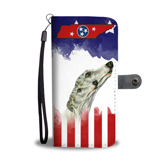 Whippet Dog Print Wallet Case-Free Shipping-TN State