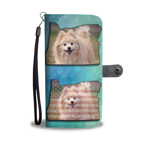 Cute Pomeranian Print Wallet Case-Free Shipping-OR State
