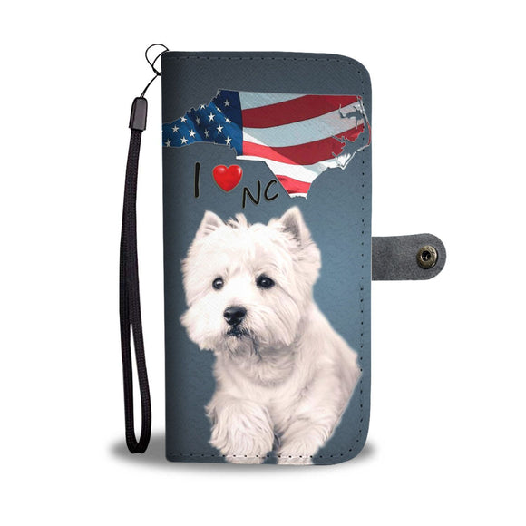 West Highland White Terrier Print Wallet Case-Free Shipping-NC State