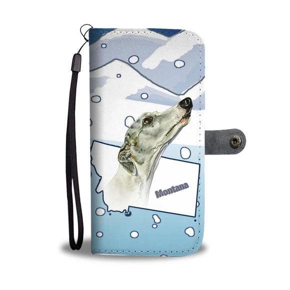 Whippet Dog Print Wallet Case-Free Shipping-MT State
