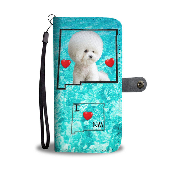 Cute Bichon Frise Print Wallet Case-Free Shipping-NM State