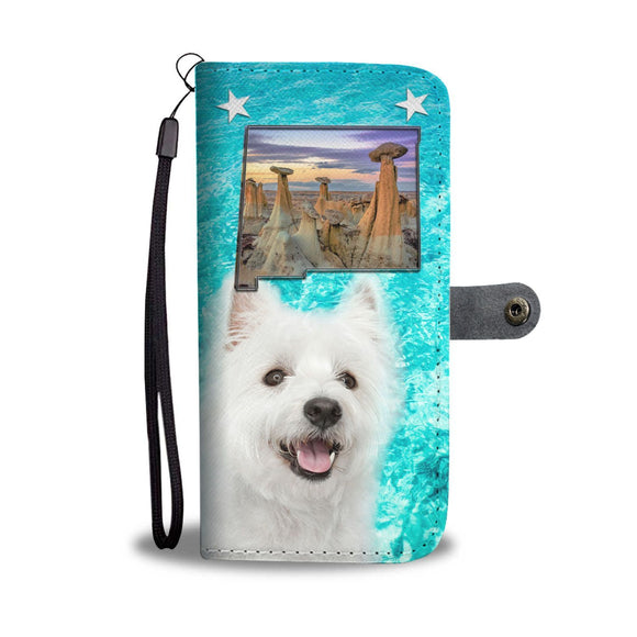 Cute West Highland White Terrier Print Wallet Case-Free Shipping-NM State