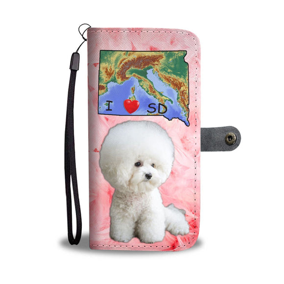 Cute Bichon Frise Print Wallet Case-Free Shipping-SD State