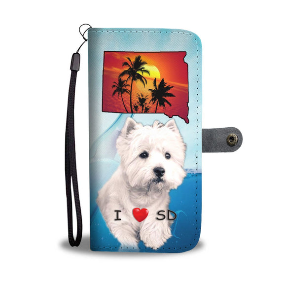 West Highland White Terrier Print Wallet Case-Free Shipping-SD State